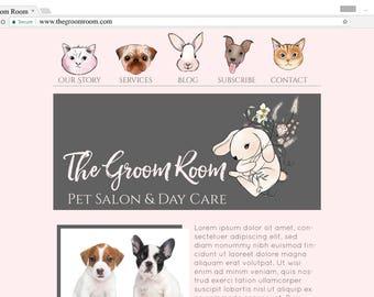 custom website graphics blog graphics website elements branding kit web elements blog design blog elements blog kit one of a kind ooak logo