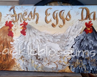 """11"""" X 22"""" #401 Chicken Signs Personalized"""
