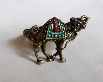 Antique Style Jeweled Camel Ring Choose Your Size