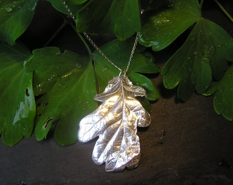 Solid Silver Oak Leaf Necklace – Made With A REAL Oak Leaf