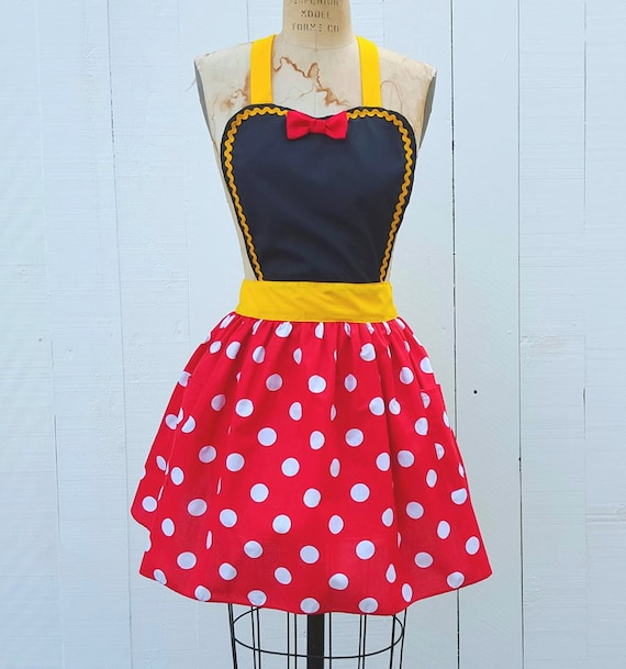 MINNIE MOUSE apron women\'s Minnie Mouse dress up retro