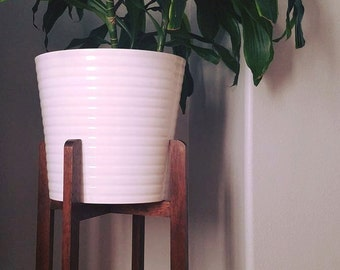 Modern wood plant stand