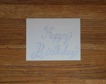 A cursive handwritten happy birthday card variety pack of 5