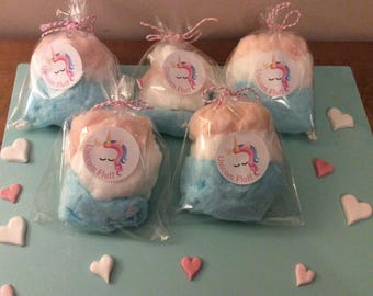 Unicorn Fluff Candy Floss /Cotton Candy party favours birthdays baby showers x5