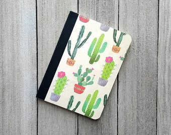 Mini Cactus Notebook, Succulent Notebook, Altered Composition Notebook, Diary, Writing Journal, Small Notepad, Journal,  Pocket Notebook