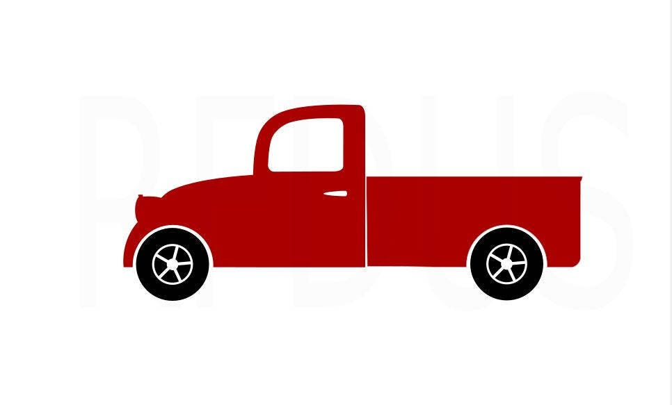 Simple Pickup Truck SVG, Easy Cricut Cutting File, Antique pickup ...