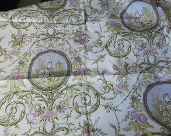 beautiful toile de Jouy fabric 'medallions'