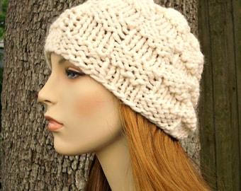 Cream Womens Hat Cream Mens Hat - Basket Weave Beanie Cream Knit Hat Cream Hat Cream Beanie Womens Accessories Winter Hat