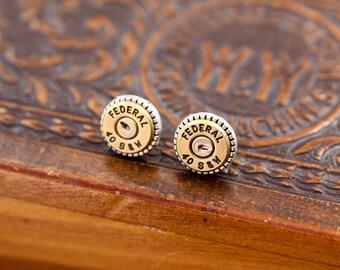 Choice 40 SW Stud Bullet Earrings-Winchester 40 SW Earrings-Federal 40 S W Post Earrings-Hornady 40 SW Earrings-Blazer Speer 40 Sw Earrings
