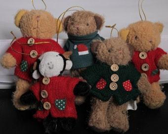 Vintage Christmas Ornament, Vintage Ornaments, Ornaments 1990's, Plush Ornaments, Christmas Tree Ornaments, Kids Ornaments, Bear Ornaments
