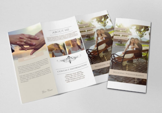 Photography trifold brochure template elegant promotional for Promotional brochure template