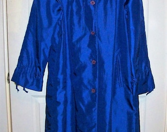 Vintage Ladies Blue Raincoat Jacket by Forecaster of Boston Medium Only 10 USD