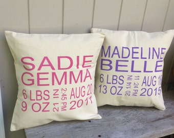 BABY ANNOUNCEMENT Pillow