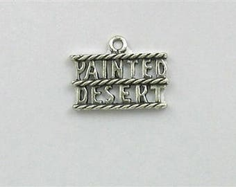 Sterling Silver Painted Desert Charm