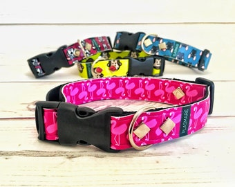 Flamingo collar (medium sized dogs)