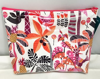 Make Up Bag - Cuban Beat Shake Your Tailfeather Zipper Pouch