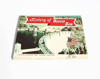 Miniature Booklet, History of Hoover Dam, Ten Views, Ferris H Scott, NV Souvenir Folder, HS Crocker, Nevada Memorabilia, Lake Mead
