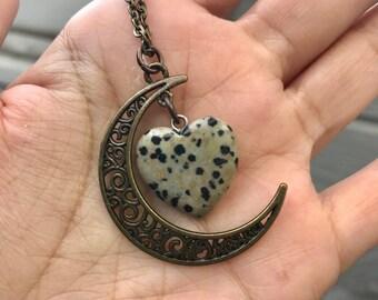 Heart of the Moon Dalmatian Stone