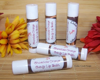 Chocolate Orange Lip Balm Chocolate Orange Flavored Lip Balm Flavored Lip Balms