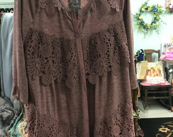 Pretty Angel Mauve Sweater