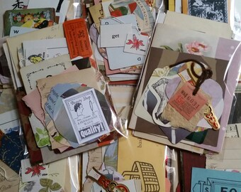 100+ Pc Vintage Mini Paper Pack Found Paper Junk Journal Kit