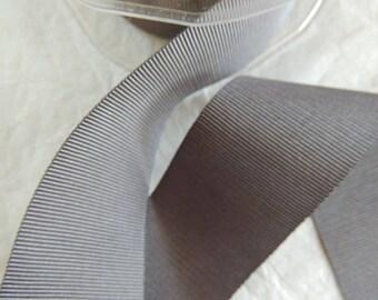 Ribbon coarse gray dark width 4 cm