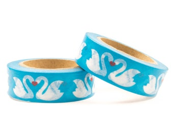 Swan blue washi tape