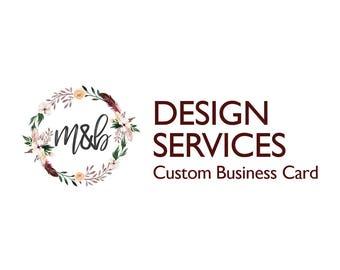 Business Card Design / Business Card / Business Card Custom / Custom / Small Business / Small Business Branding / Business Card PRINTABLE