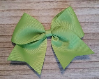 Large Apple Green Traditional Hair Bow