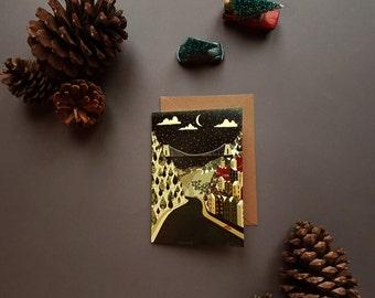 Christmas Bristol Clifton Suspension Bridge Illustration Greeting Card Set