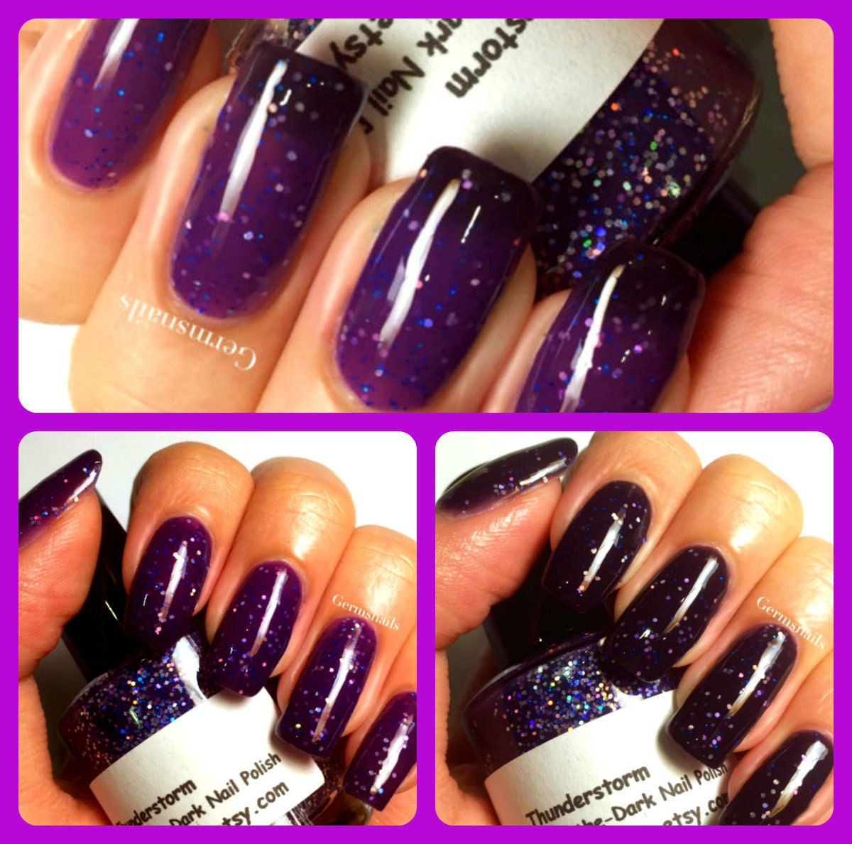 Color Changing Nail Polish - Purple to Black - \