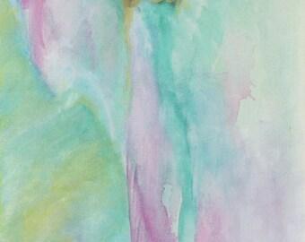 "Angel of Autonomy - SIZE: 12 x 24 "" Fine Art Poster ANGEL Spiritual Art"