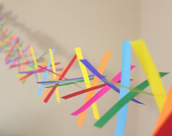 Confetti Paper Garland - Party Garland - Birthdays - Celebrations - Rainbow Garland