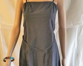 thin strap black dress