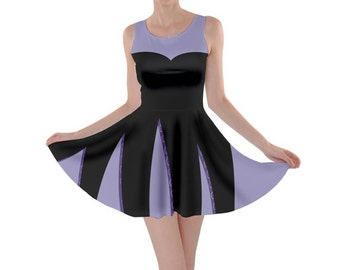 Adult Ursula (No Necklace) Little Mermaid Inspired Skater Dress