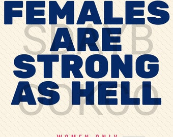 Feminist Film Movie Poster Females Are Strong As Hell Unbreakable Kimmy Schmidt
