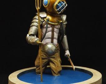 Scuba diver sculpture