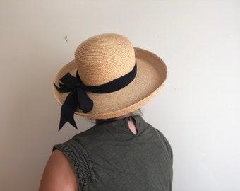 Wide Brim Straw Hat, Women's
