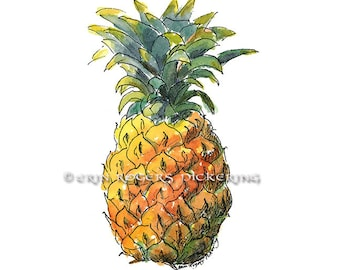 Welcome Pineapple 8x10 kitchen art print