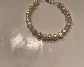 7inch freshwater pearl nugget bracelet