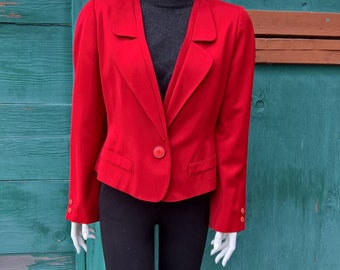 Vintage Krizia Red Cropped Jacket