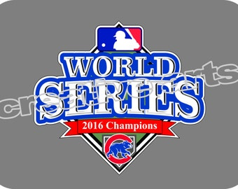 Chicago Cubs 2016 WORLD SERIES Champions Decal car tattoo sticker vinyl