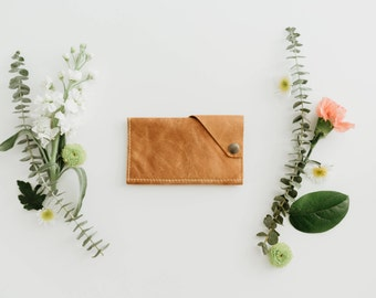 Leather iPhone Wrap Wallet - The Data Dave - Rustic Camel (color variations available)