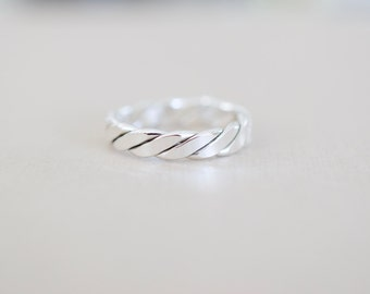 Twisted Sterling Ring - Sterling Silver Ring
