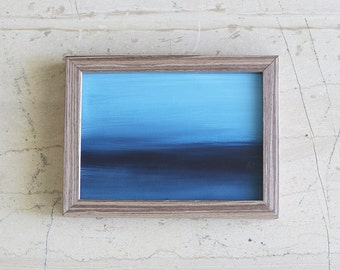 Abstract Sea Painting - Indigo Blue - Contemporary abstract art - Modern abstract seascape - Ocean - Prussian blue