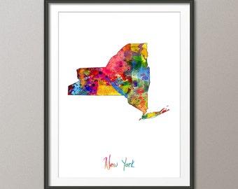 New York Map USA, Art Print (1149)