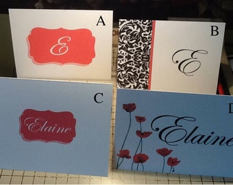 Personalized Note Cards - 8 Pack