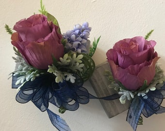 WRIST CORSAGE and BOUTONNIERE Great for proms,
