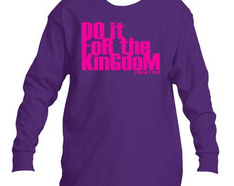 Do it for the Kingdom V2 Youth long sleeve