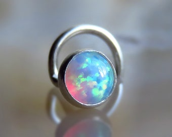 White Opal Nose Stud nose ring